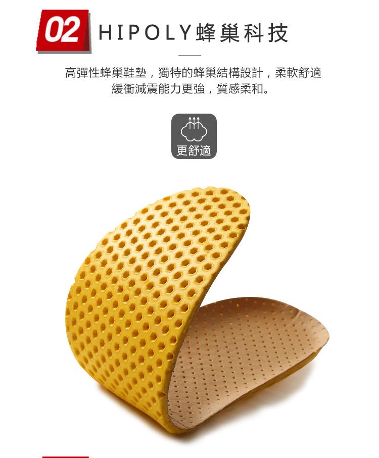 高性能蜂巢鞋墊,緩衝減震