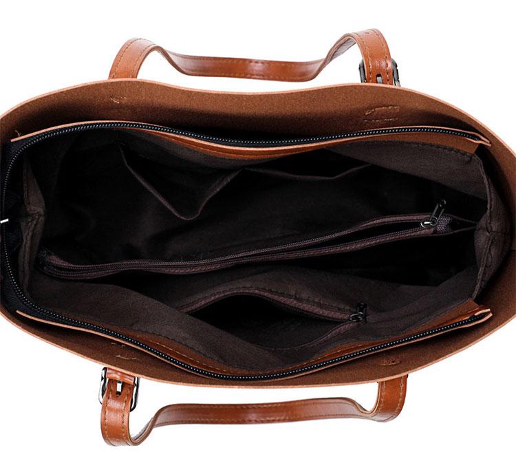 歐美風牛皮子母包手提包內袋展示