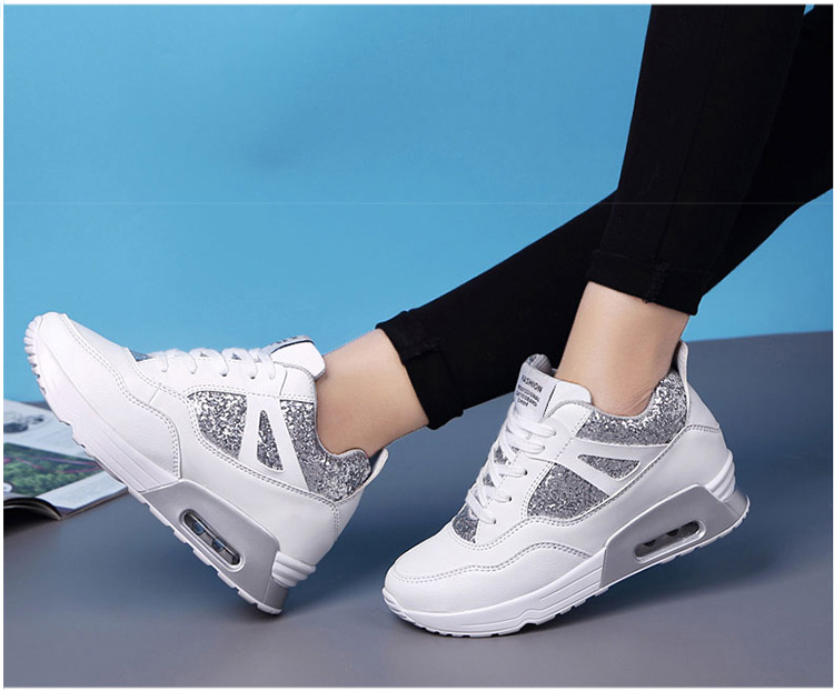 白色亮片氣墊女鞋
