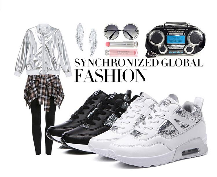 時尚潮流內增高休閒女鞋