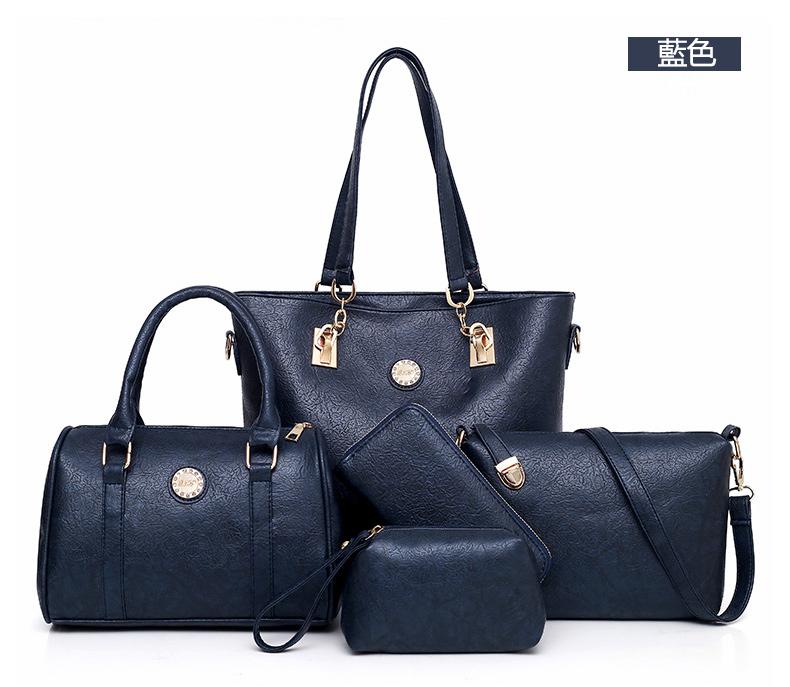 藍色子母包手提包