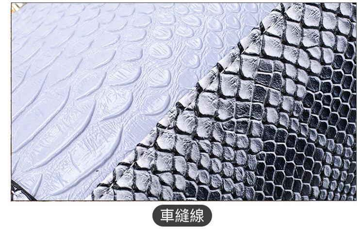 鱷魚紋子母包5件組車縫線
