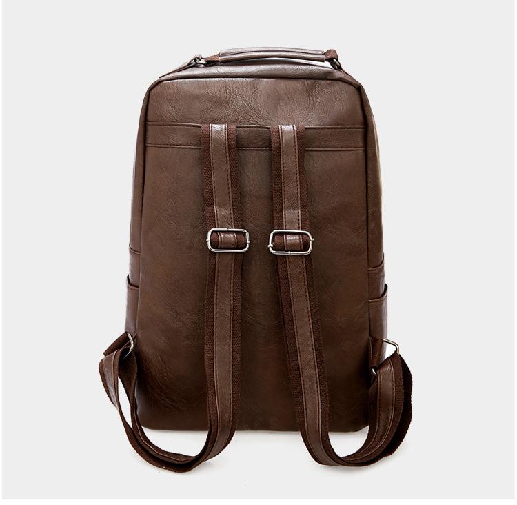 產品展示-棕色雙肩包背面