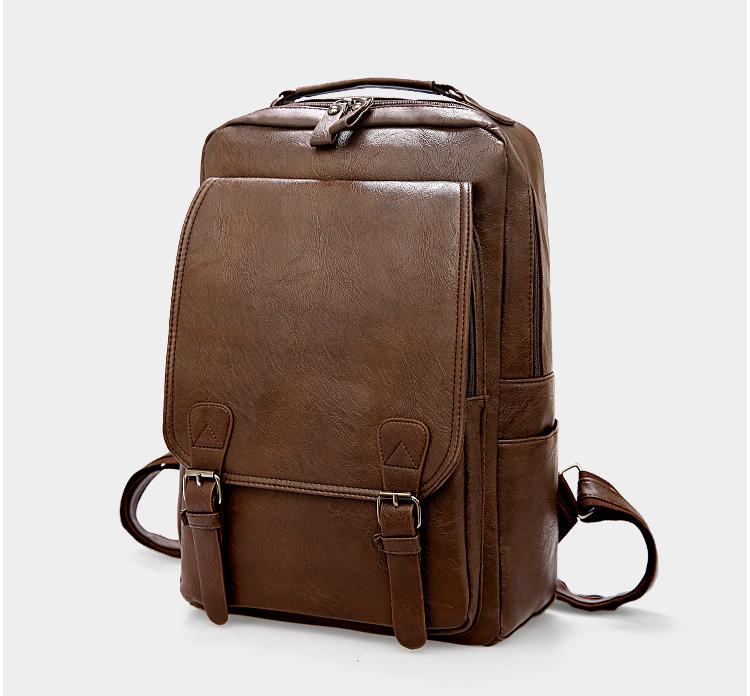 產品展示-棕色雙肩包