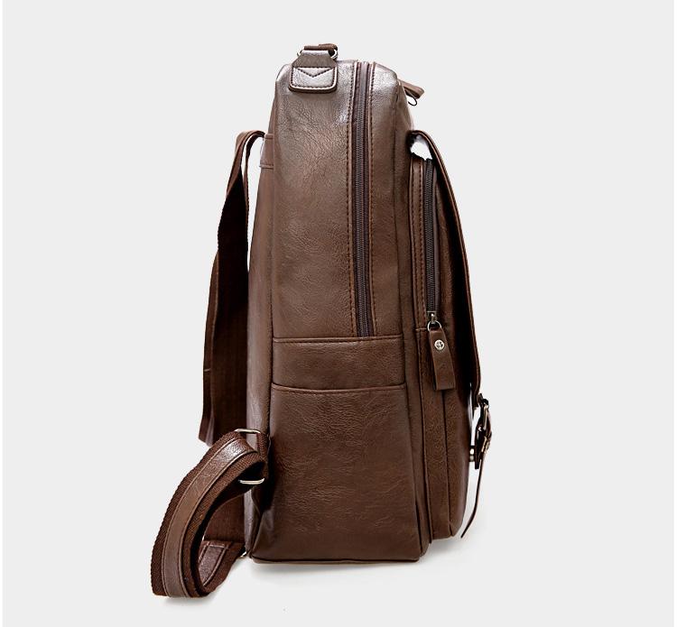 產品展示-棕色雙肩包側面