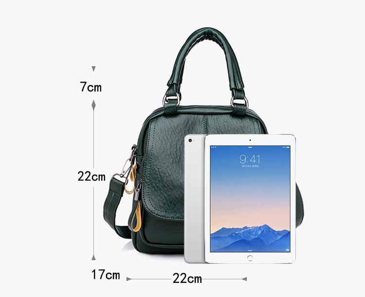 牛皮手提包包長寬高與ipad實物對比