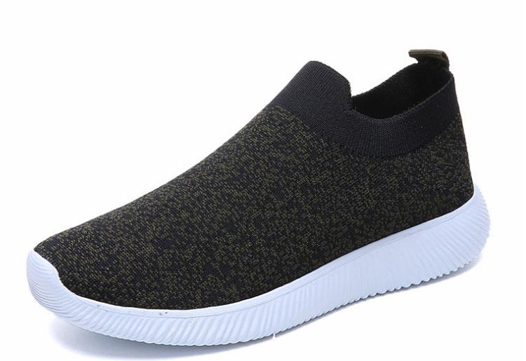 簡約時尚飛織運動鞋黑色