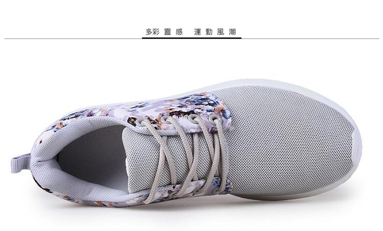 運動休閒鞋顏色展示灰色