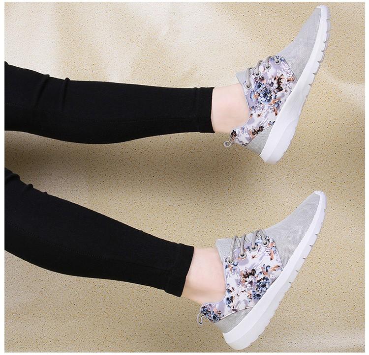 運動休閒鞋模特實拍米色