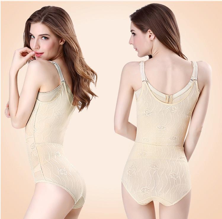 模特展示後脫式連身塑身衣側面與背面