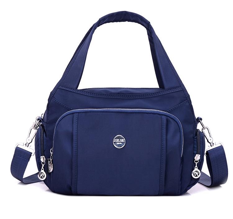 尼龍手提包單肩包顏色展示-藍色