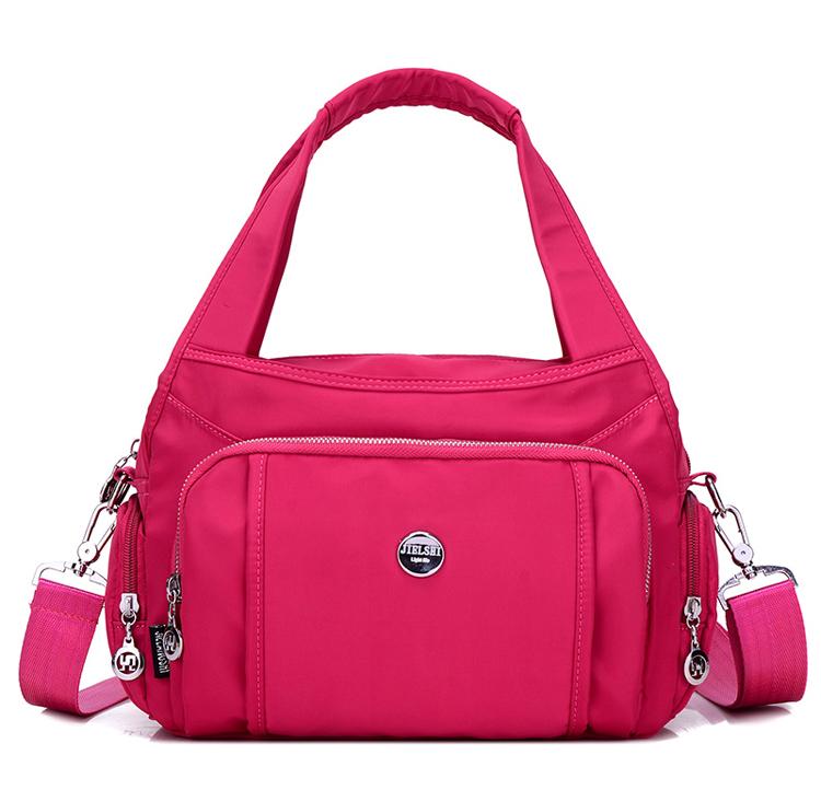 尼龍手提包單肩包顏色展示-紅色