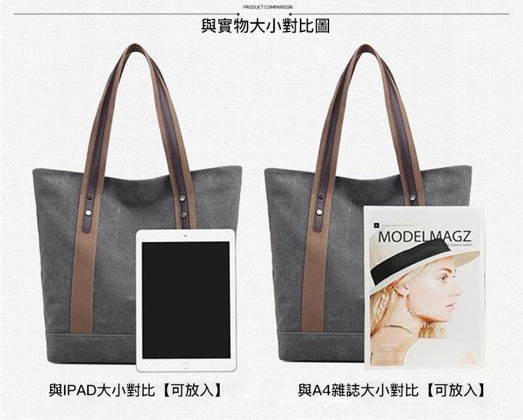 帆布包與iPad實物對照