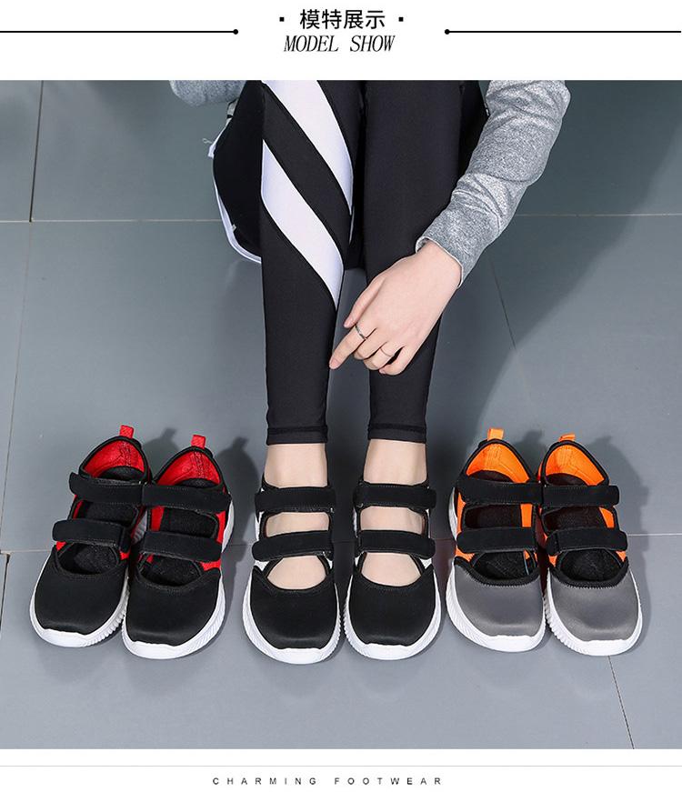 軟底潮流運動鞋涼鞋模特展示