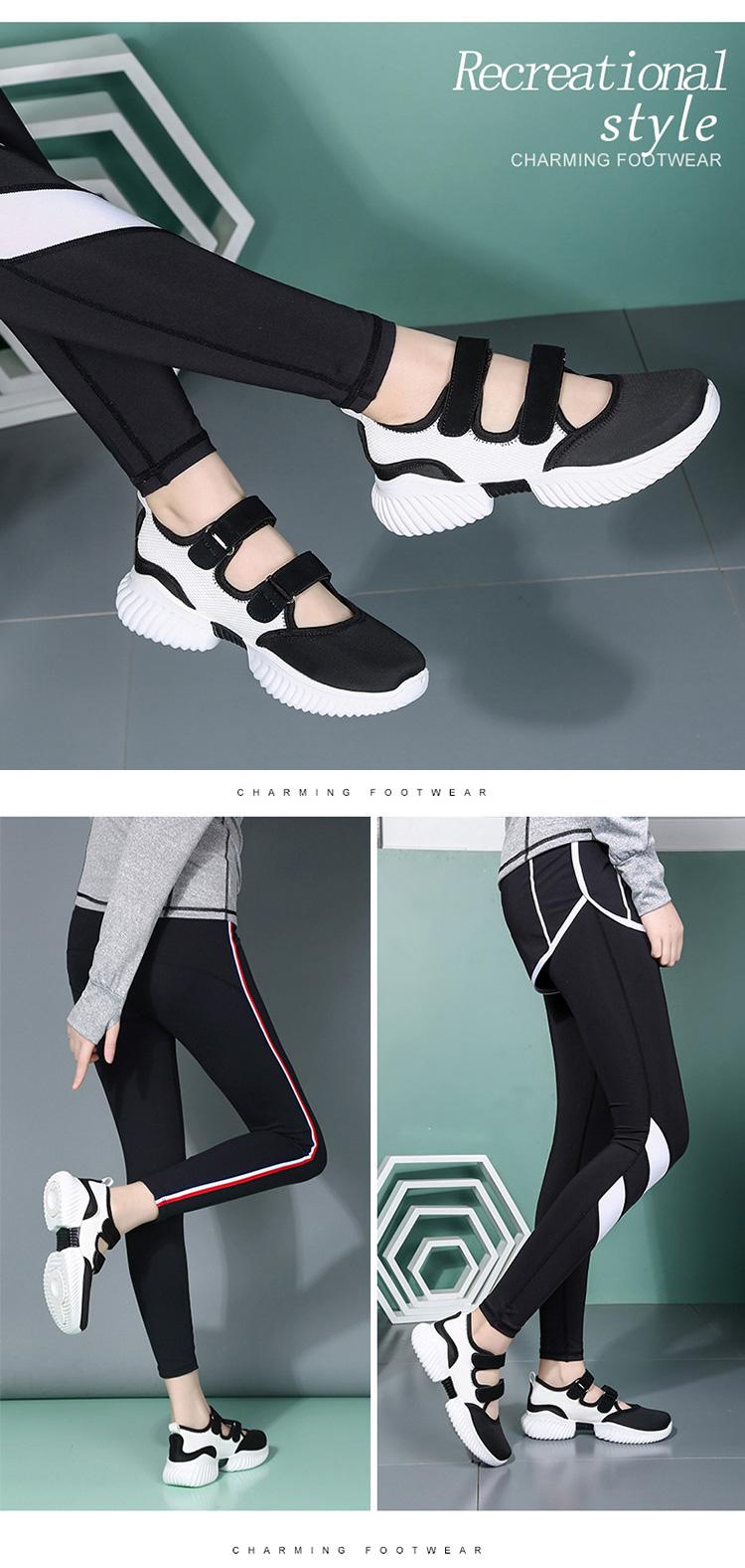 軟底潮流運動鞋涼鞋模特展示黑白色