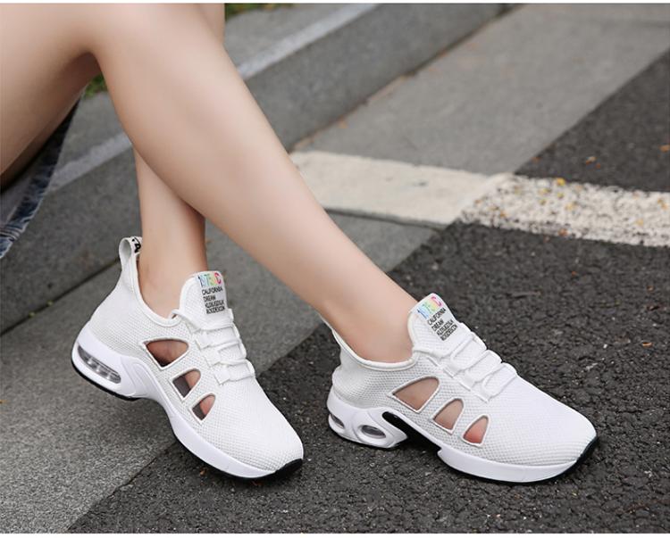 休閒氣墊鞋模特實拍白色