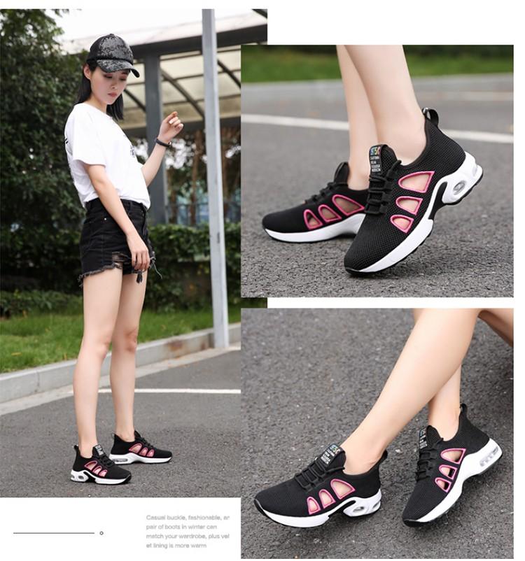 休閒氣墊鞋模特實拍黑色