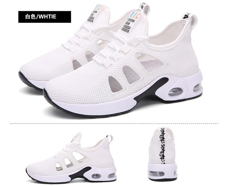 休閒氣墊鞋白色實拍