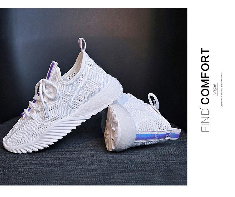 女生透氣韓版運動鞋實拍白色的