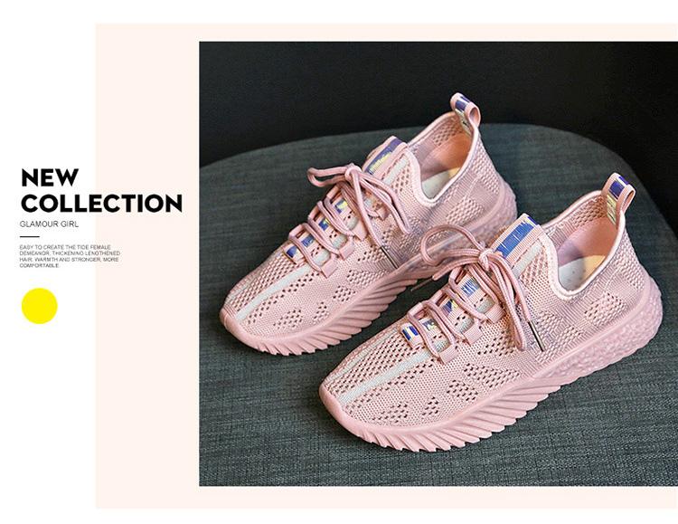 女生透氣韓版運動鞋實拍粉紅色