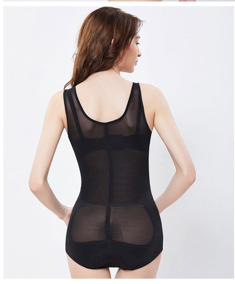 黑色塑身衣背面