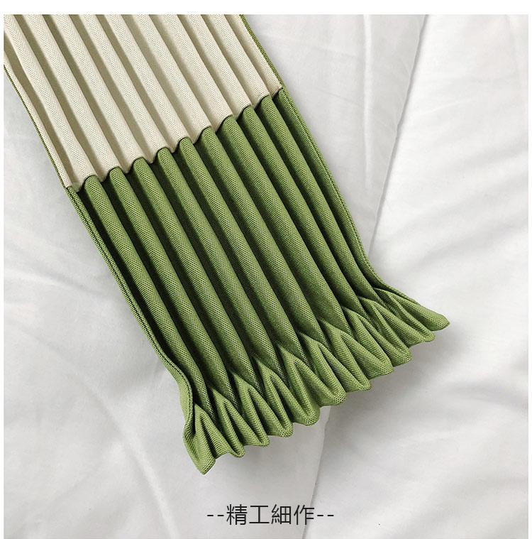 綠色可折疊空氣包折疊狀態