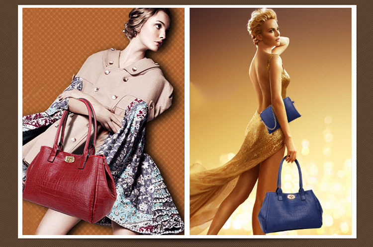 模特展示手提包