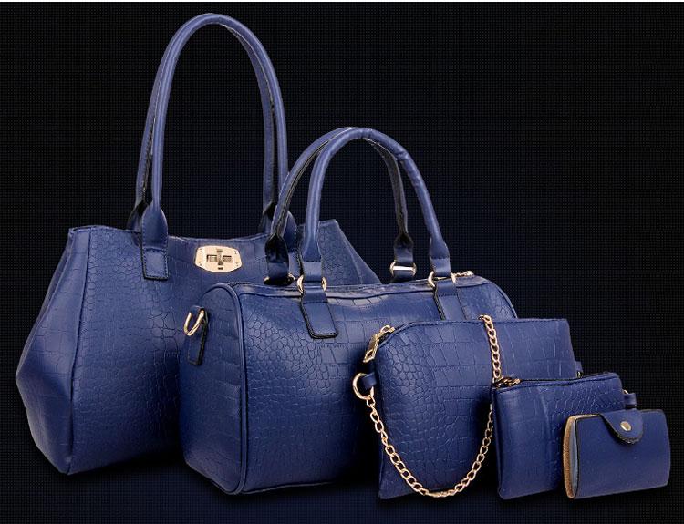 藍色鱷魚包包五件套