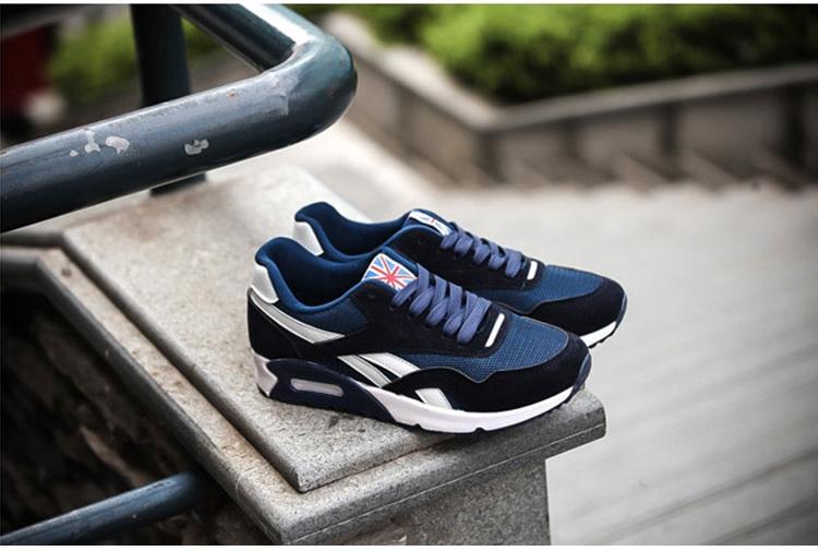 藍色氣墊鞋街拍