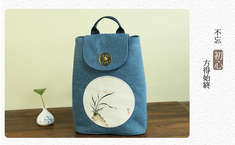 蘭花布包包