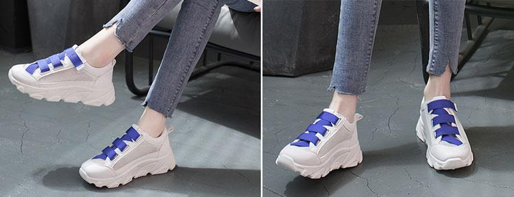 網面透氣運動鞋老爹鞋模特展示藍色