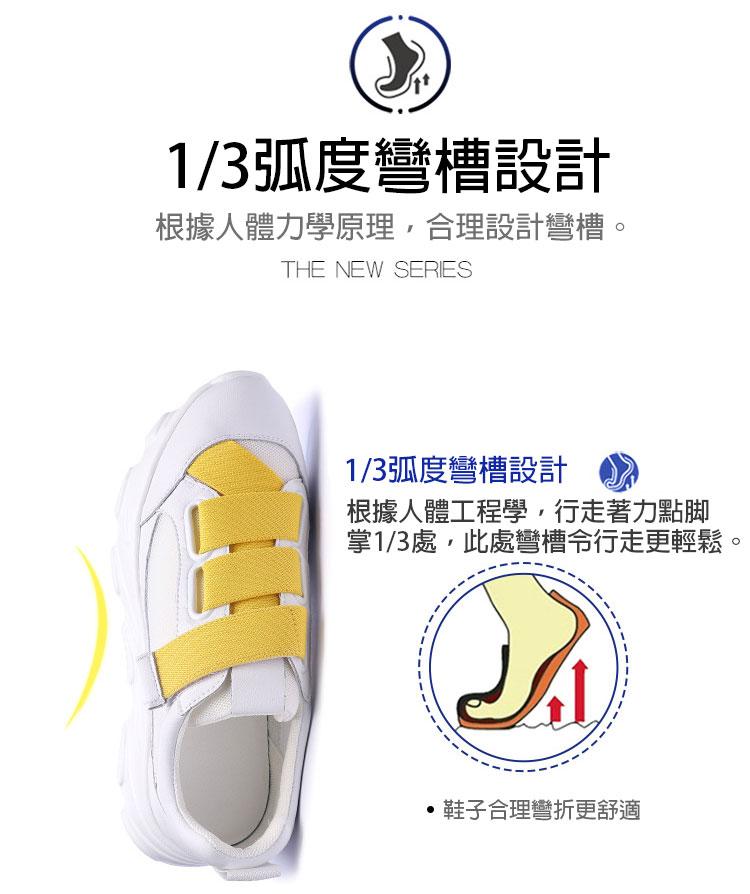 網面透氣運動鞋老爹鞋人體力學原理設計