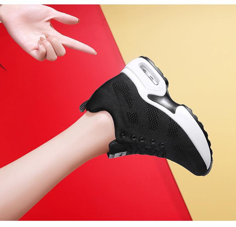 黑色氣墊運動鞋氣墊特寫
