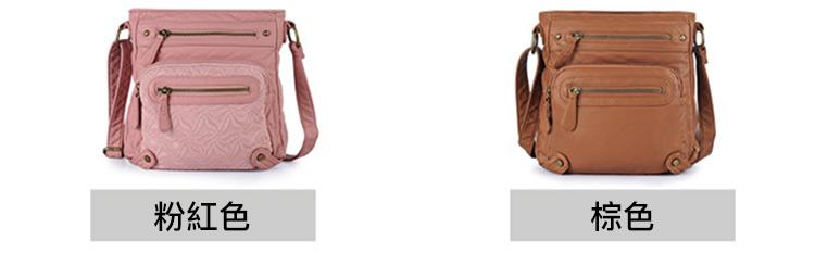 歐美風時尚小方包單肩包粉色棕色