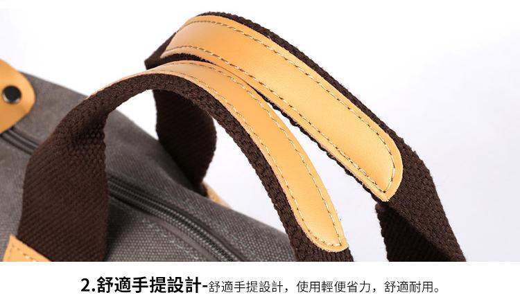 帆布包細節展示-手提帶