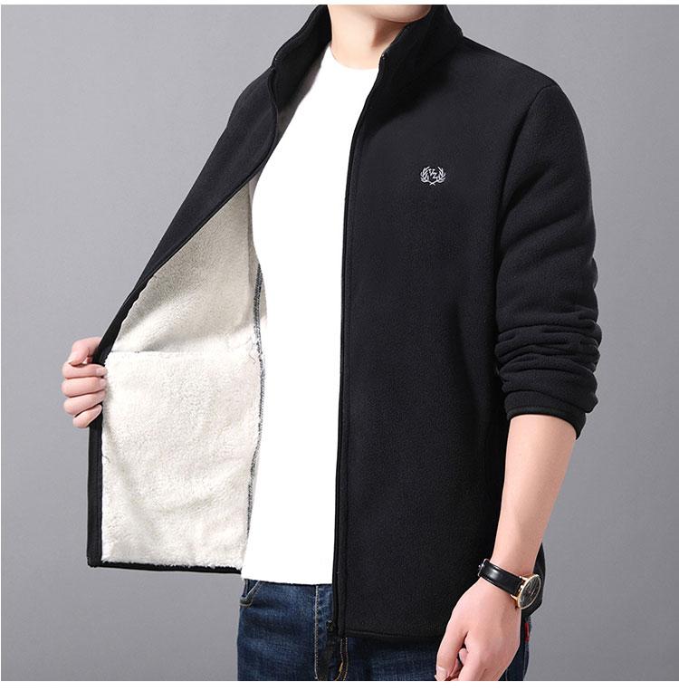 黑色加絨夾克外套