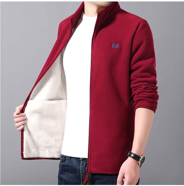 紅色加絨夾克外套