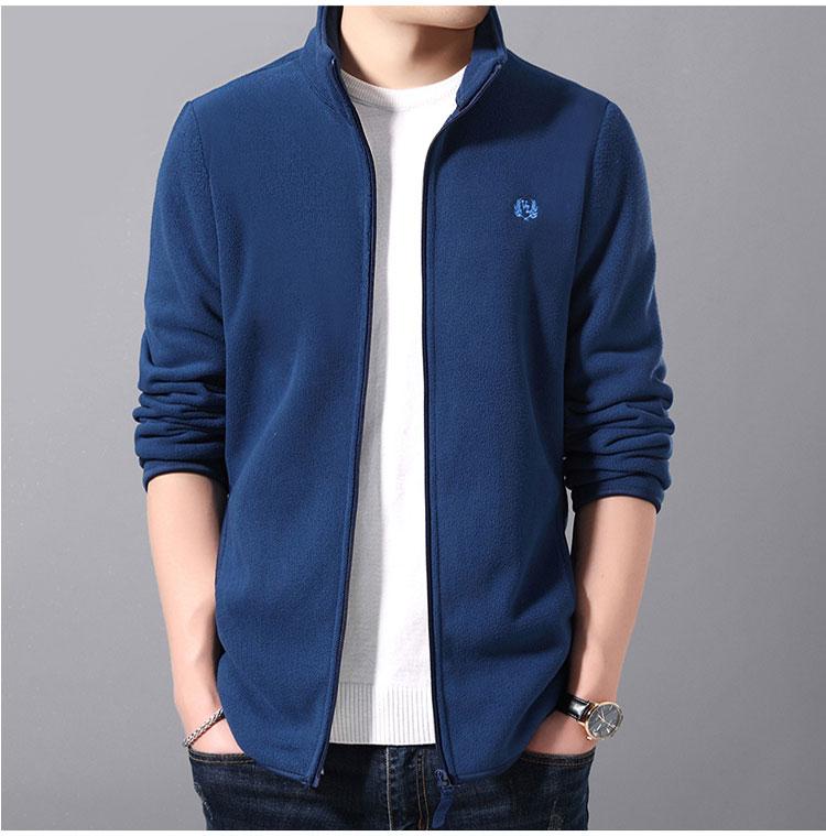 藍色夾克外套正面