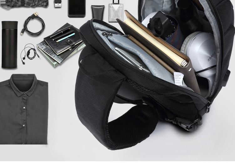 男士防盜胸包容量可容納物品下