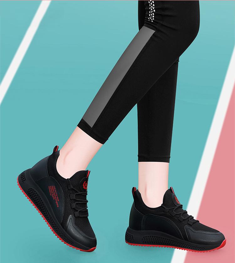 時尚運動鞋跑鞋黑紅色