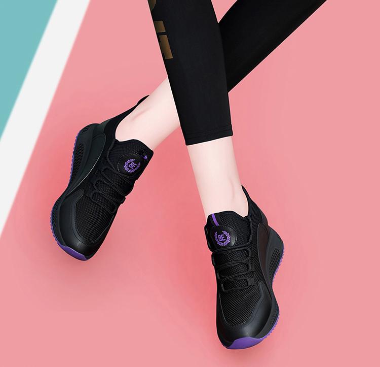 時尚運動鞋跑鞋黑紫色