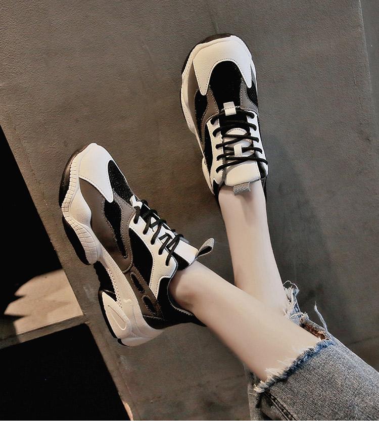 休閒運動鞋老爹鞋模特展示