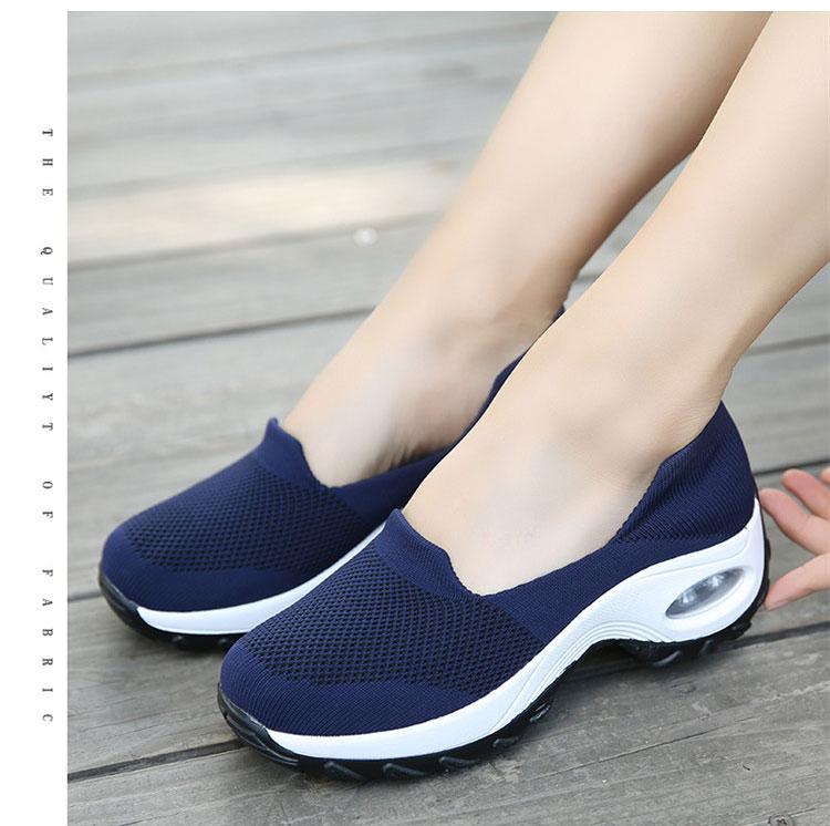 透氣彈力飛織鞋運動鞋藍色