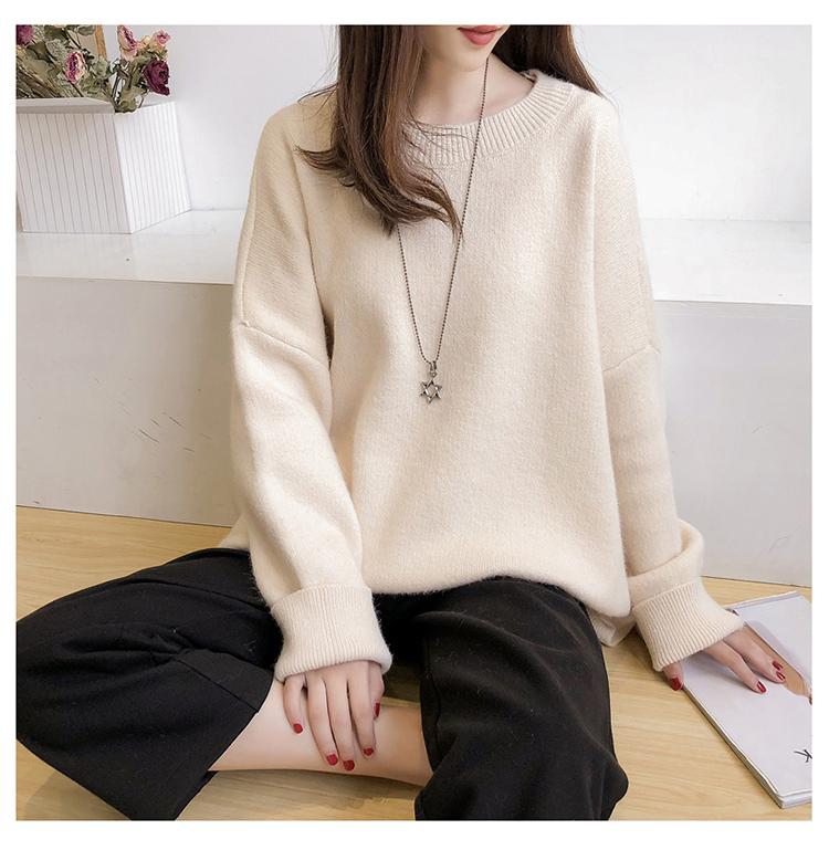 米白色針織毛衣模特展示